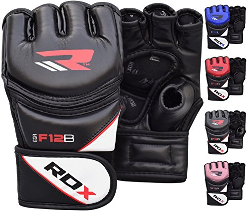 RDX Grappling Glove New Model Ggrf-12B-L Mma Handschuhe, Schwarz, L