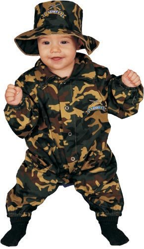 Dress Up America Baby Military Officer, Camouflage, 0-9 Months (Soldiers Outfit)