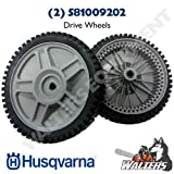 (Ship from USA) NEW Pair of Husqvarna OEM Drive Wheels 581009202 532400543 193912X460 /ITEM NO#8Y-IFW81854180684