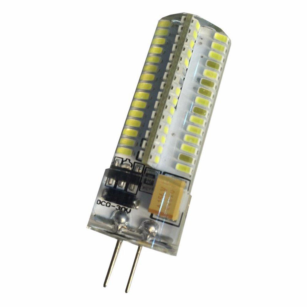 Color : Cool White 6000K AC//DC12-24V 450lumens Non-Dimmable 120X3014SMD Bi-pin Base LED Light Energy Saving Light Bulbs LED Light Bulb LED Bulbs G4 6 Watt 3000K
