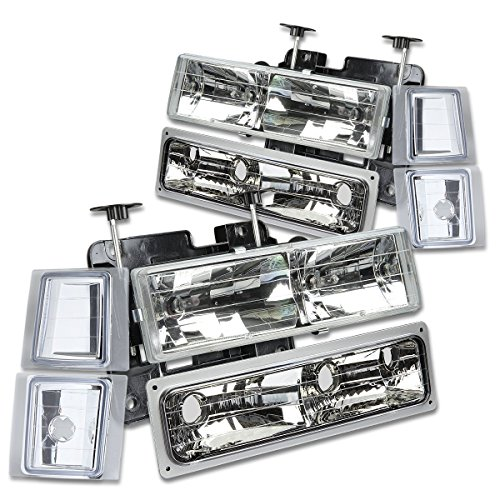 (DNAMotoring HL-OH-8P-C1094-CH Headlight Assembly, Driver and Passenger Side)