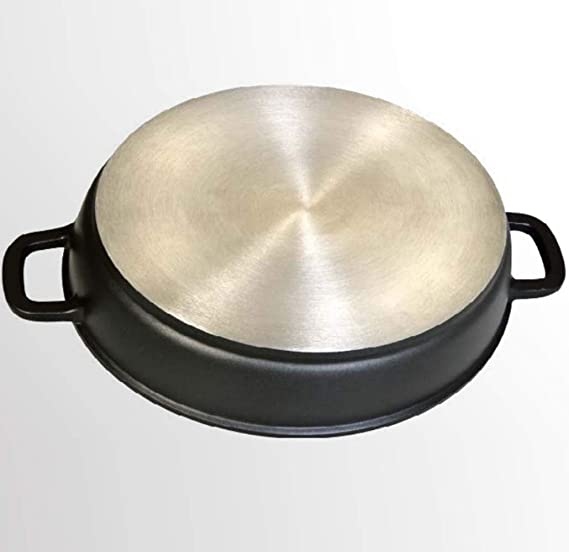 WeCook 10137 Cazuela de Cocina Inducción Profesional Grande, Tapa de Cristal, Cacerola Antiadherente, Libre de BPA, 36 cm, Aluminio Forjado: Amazon.es: ...
