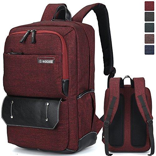 Brinch Laptop-Rucksack für Business Reisen Wandern Studium Schule, für 10-17,3Zoll Laptops (25,4-43,9cm) Laptop/Notebook/Macbook/Chromebook/Tablet-Computer rot Jean Red 17 zoll
