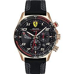 Scuderia Ferrari Homme Chronographe Quartz Montre avec Bracelet en Cuir 830719 16