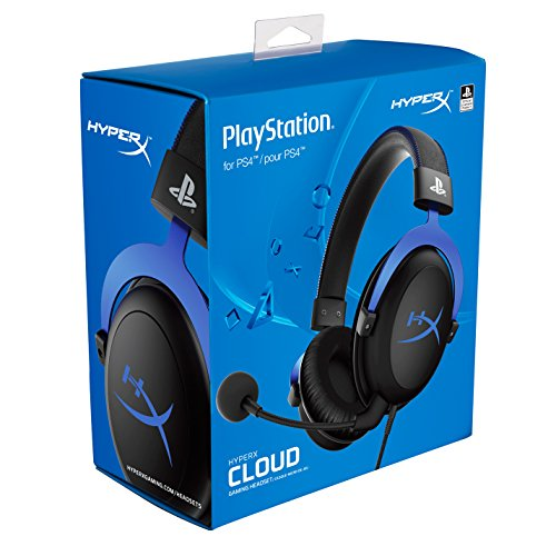 HyperX Cloud Gaming Headset - Playstation 4 - Officially Licensed Sony Interactive Entertainment LLC PS4 Systems - Black/Blue (HX-HSCLS-BL/AM) by HyperX (Image #7)