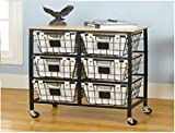 Better Homes and Gardens 6-Drawer Wire Cart, Black by Better Homes and Gardens