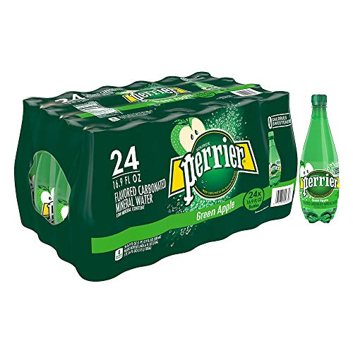 (Perrier Green Apple Flavored Carbonated Mineral Water, 16.9 fl oz. Plastic Bottles (24 Count))