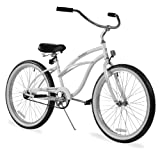 Firmstrong Urban Lady Single Speed Beach Cruiser Bicycle, 24-Inch, White