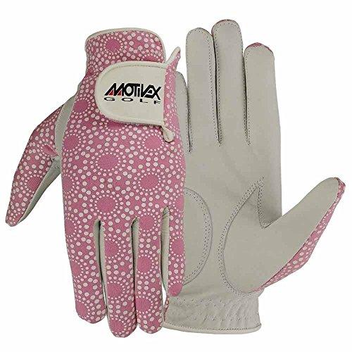 MRX BOXING & FITNESS Womens Golf Glove Soft Cabretta Leather Regular Fit Women Golfer Gloves Left Hand (Pink-Large)