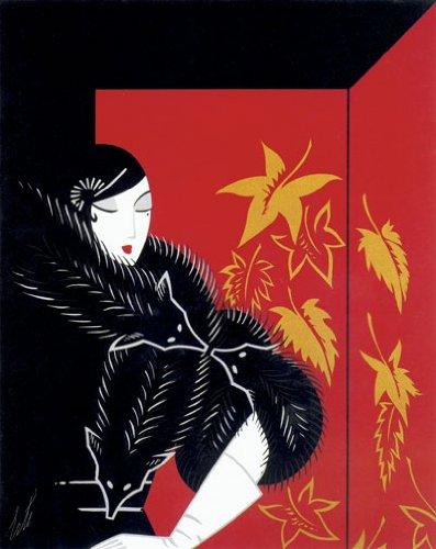 Furs Huge Art Deco Print by Erte
