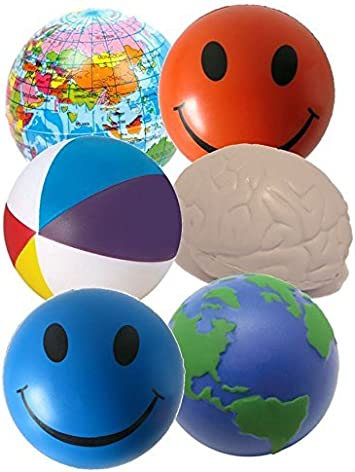 StressCHECK Pelota Anti Estrés - 6 x Bola Anti-estrés para Apretar ...