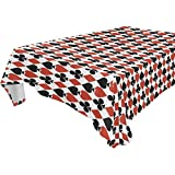 imobaby Jennifer Poker Card Shading Tablecloth for Dining-table Good Decor for Dining Room Square Table Cover for Kitchen, 60x60 inches