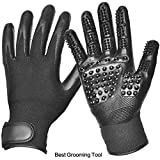 Jhua Pet Grooming Gloves 1 Pair Upgraded Pet Grooming Tool Efficient Pet Hair Remover Mitt Deshedding Massage Tool with Enhanced Five Finger Design for Dogs, Cats, Horses,Small Animal Bathing