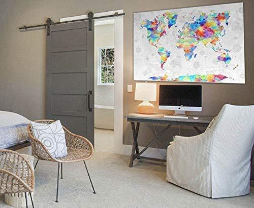 World Map Tapestry by Artist Dan Morris