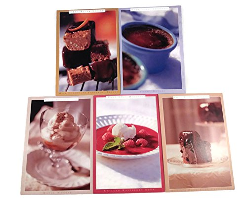 Chocolate Lovers Decadent Desserts Recipe Greeting Note Cards Bundle: 5 Cards and 5 Envelopes ()
