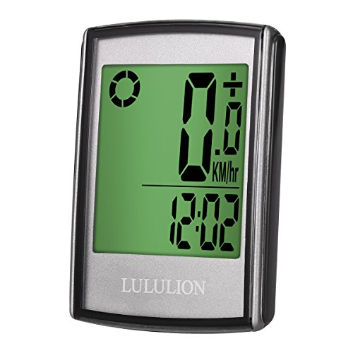 LULULION Bike Computer, Bike Odometer Cycling, Wireless Bicycle Speedometer Multi-Function Water Resistant with Digital LCD Display by LULULION