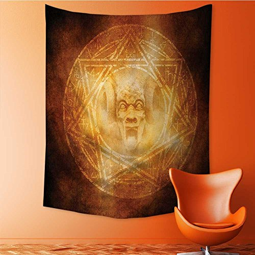 SeptSonne Home Decor mDem Trap Symbol Logo Ceremy Creepy Ritual ntasy Paranormal Tapestry Wall Hanging Art for Living Room Bedroom Dorm Home Decor 60W x 91L INCH by SeptSonne