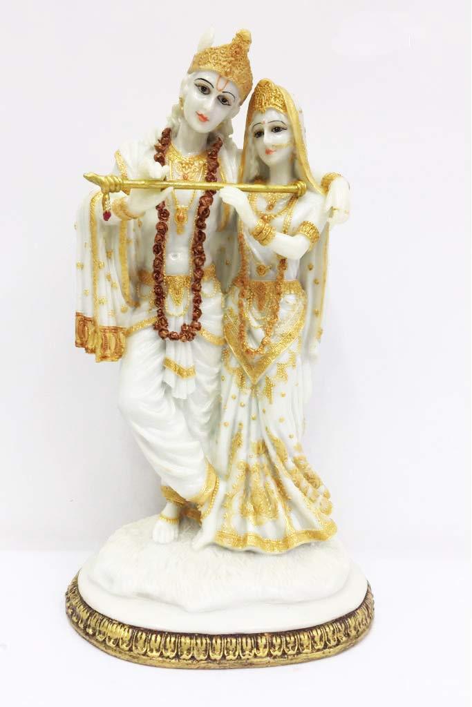 Buy Sri Krishna Culture Large Standing Radha And Krishna Idol With