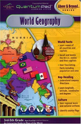Quantum Pad Learning System: World Geography Interactive Book and Cartridge by LeapFrog (Image #2)