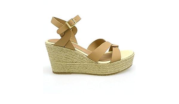 LE CRABE ROUGE Alpargatas de Cáñamo CR5983183 Nude: Amazon.es: Zapatos y complementos