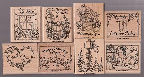 Stampin Up Feathered Friends Rubber Stamp Set of 8 - 1999 by Stampin' Up