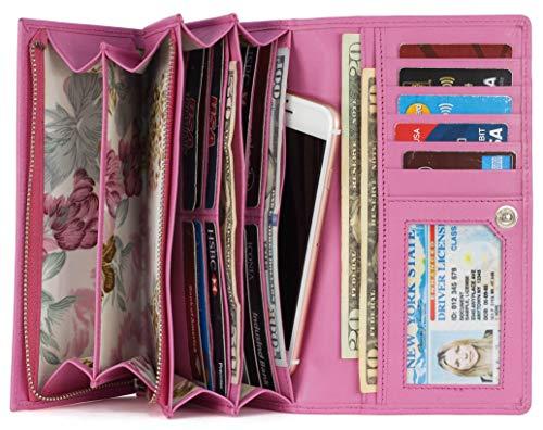 Mou Meraki Wallet Clutch Checkbook Women Shield