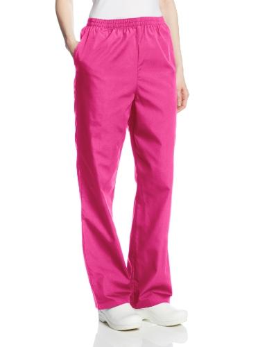 Cherokee Women's Workwear Scrubs Pull-On Pant, Shocking Pink, Medium
