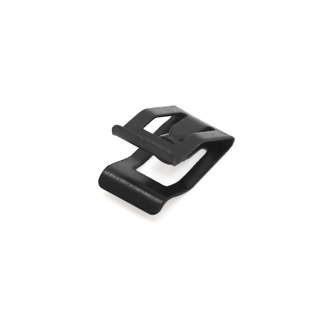 sourcing map 20pcs Rivet Clip Holding Black Metal Car Dashboard Console Dashboard