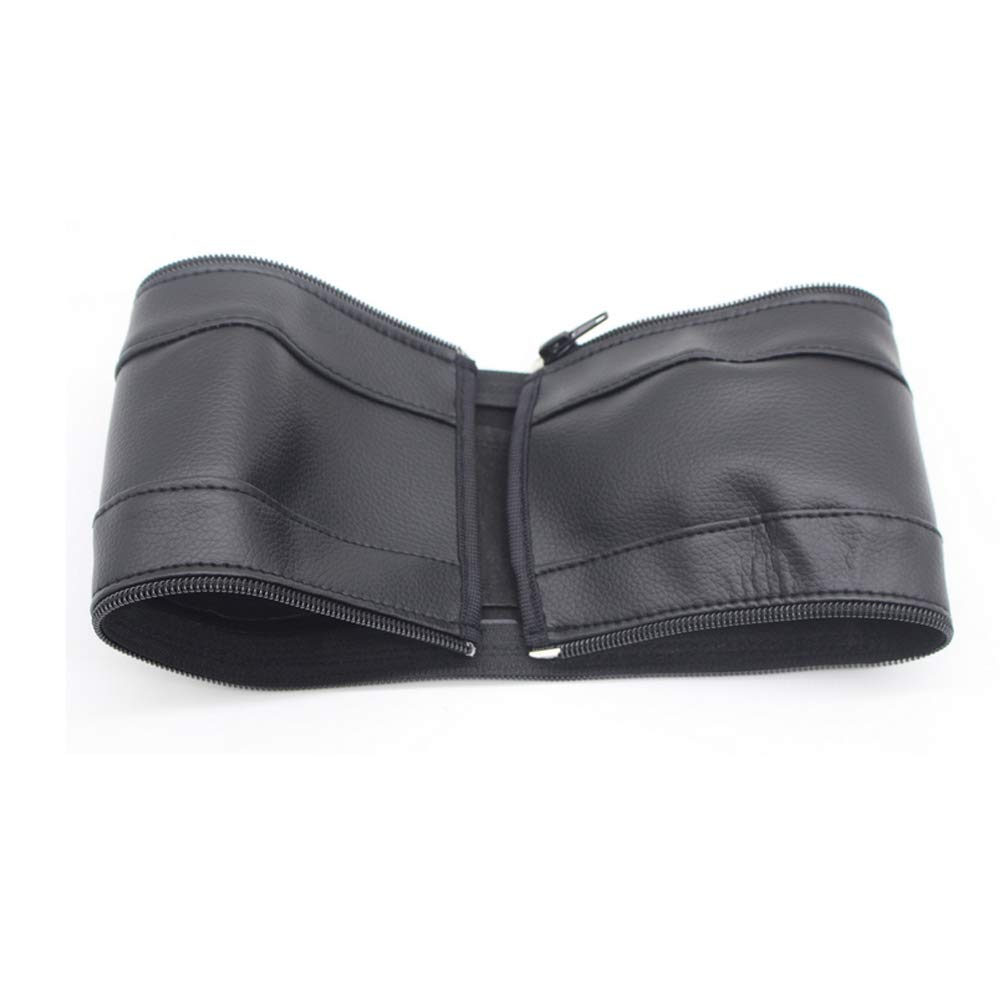Baby Stroller Armrest Handle Sleeve Cover Universal Handle Dust Proof Cover Artificial Leather Bumper Bar Case Cover Protector for Children Push Cart Accessories Black 1PC