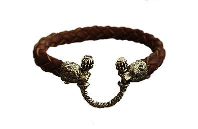 Antiques Viking Bronze Decorative Bracelet
