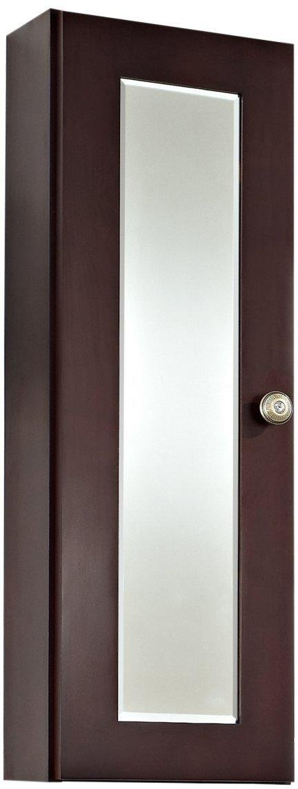 American Imaginations 336 12-Inch by 36-Inch Cherry Wood Reversible Door Medicine Cabinet, Coffee Finish