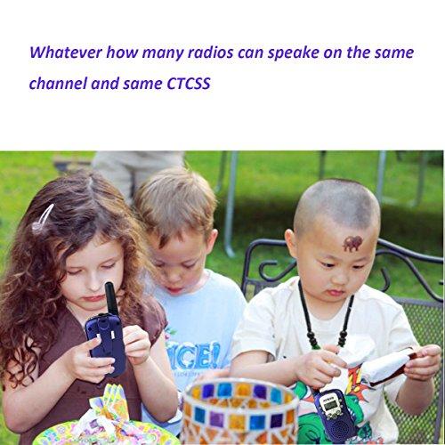 Case of 100,Retevis RT-388 Kids Walkie Talkies Boys 0.5W License Free 22CH FRS Toy Walkie Talkies by Retevis (Image #5)