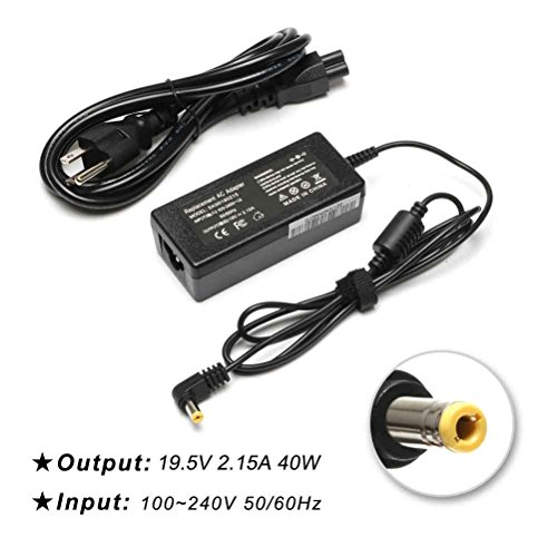 LPCAL 19V 2.15A 40W Ac adapter charger for Acer Aspire One D250 D255 D255E D257 D260 KAV10 KAV60 NAV50 Z5WAH ZA3 ZE6 ZG5 ZG8 Acer Aspire V5 E3 E5 Chromebook C7 AC700 C700 C710 Netbook A0A150 ZG5 AO722