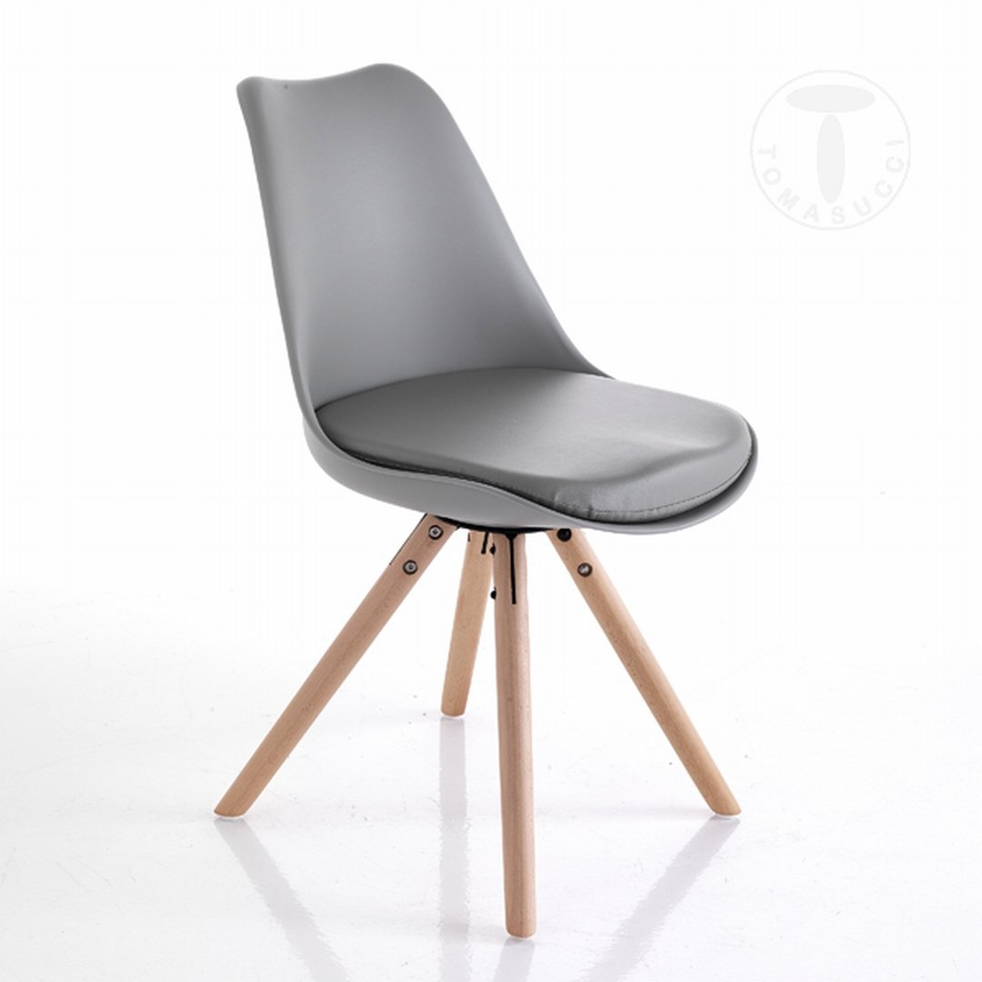 Tomasucci 2er Set Designer Stuhle Kiki Wood Grau Amazon De