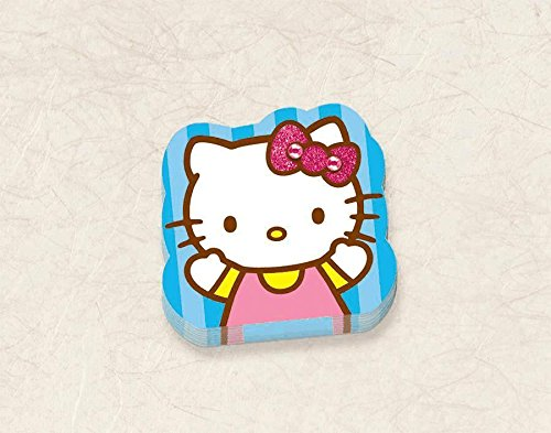 [Adorable Hello Kitty Die-Cut Notepad Birthday Party Favour (1 Piece), Blue, 2 3/4