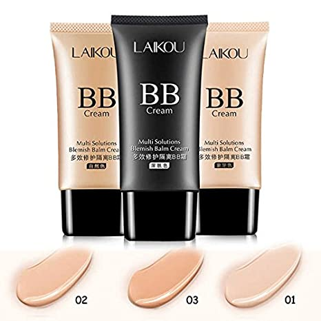 LAIKOU Brand New Primer Makeup BB & CC Creams Moisturize Oil-control Sunscreen Beauty Concealer Foundation Makeup LK173241: Amazon.in: Beauty