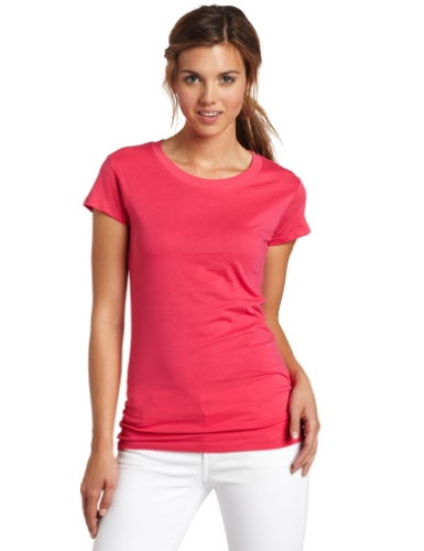 Dickies Girl Juniors Short Sleeve Crew Neck Tee,Lipstick Pink,Small