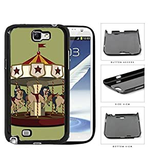 Horse Carousel Amusement Park Ride Hard Plastic Snap On Cell Phone Case Samsung Galaxy Note 2 II N7100