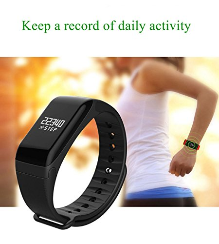 Fitness Tracker with Replacement Band Waterproof Heart Rate Monitor Call Remind Wireless Pedometer Activity Tracker for…