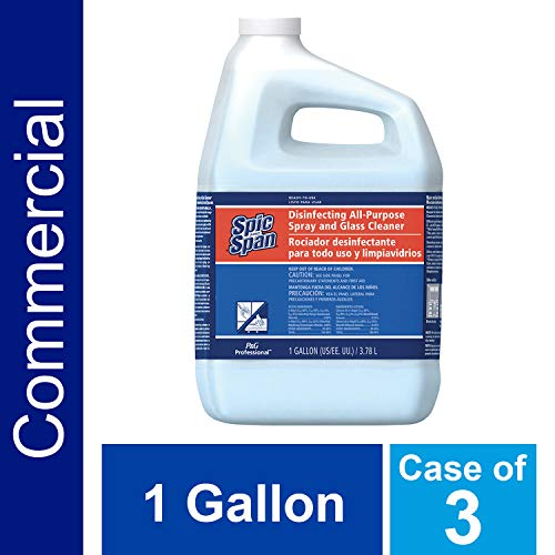 - Disinfecting Surface and Glass Cleaner from Spic and Span Professional, Bulk 3-in-1 Multi-Purpose Cleaner, 15x Concentrate, Fresh Scent, All Purpose Commercial Use, 1 Gal. (Case of 3)