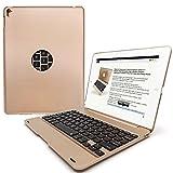 Wireless Keyboard Case for iPad Air 2/Pro 9.7'' Wireless iPad Keyboard Case Ultrathin Durable Lightweight Portable Protective Case Auto Sleep/Wake