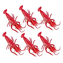 LUOEM 6pcs Halloween Tricky Props Fake Lobster Simulation Prop for Halloween April Fool's Day Mischief (Black)