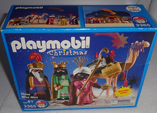 Collection of two playmobil sets: NATIVITY MANGER # 3996 and THREE WISE MEN # 3365 - Two sets for one price! The Christmas Story book in 5 languages!