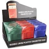 Zigarettenbox Kunststoff farblich 12 Stück sortiert, Stückpreis € 1,95