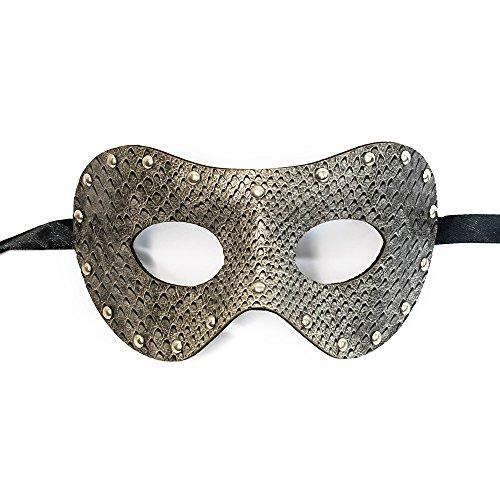 Gray Snake Leather Mask Venetian Masquerade Mask Event Party Ball Mardi Gars Halloween ()
