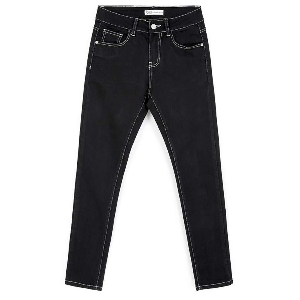 RLWFJXH Jean Mujer Autumn Plus Size L-6XL Dos Pantalones Vaqueros de ...