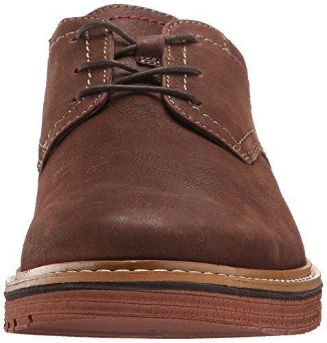 Clarks Mens Newkirk Plain Oxford, Pelle marrone scuro, 9 M US