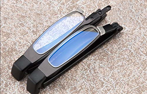 Ultra Compact Slim Mini Folding Reading Glasses Eyeglasses Portable Travel Trip Pocket Readers Glasses Eyewear Read Map Menu Book Magnifying Eye Glasses for Men Women Black - For Men Eyeglasses Latest