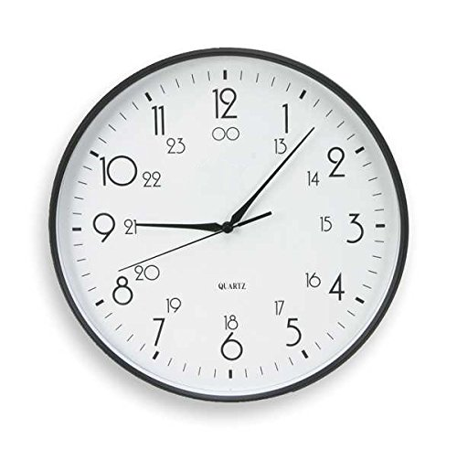 - Analog Clock, 12 In, Black