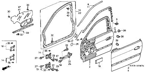 acura door diagram wiring diagrams  amazon com genuine acura 67326 s0k a00za door panel tape, front acura door diagram